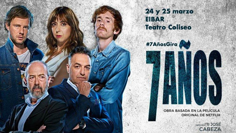 Prácticamente agotadas las entradas para el domingo 24 de marzo, añadimos nueva fecha: lunes 25 de marzo.  Cómo nos gusta el riesgo...  #7AñosGira: 🗓 24 y 25 marzo  📍 20:30h 📌 #Teatro Coliseo #Antzokia #Eibar ► http://ow.ly/KPLs30nJQec  #7Años #7AñosTeatro #teatro #Netflix
