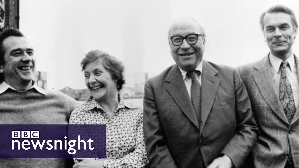 Seven MPs have broken away from the Labour Party to sit as an Independent Group. It is the party's first major split since the Gang of Four created the SDP.  Is history repeating itself? A few years ago we spoke to those who split in 1981... https://t.co/LuPkxsUu2w   #newsnight