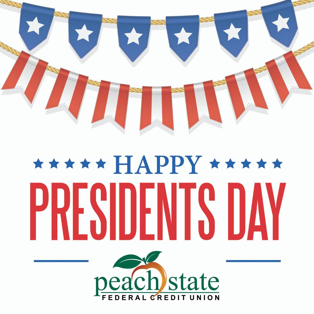 All branches will be closed today, Monday, February 18th in observance of the Presidents Day holiday. During this time, you may access your accounts online or with our mobile banking app. We will resume regular operating hours tomorrow, Tuesday, February 19th.