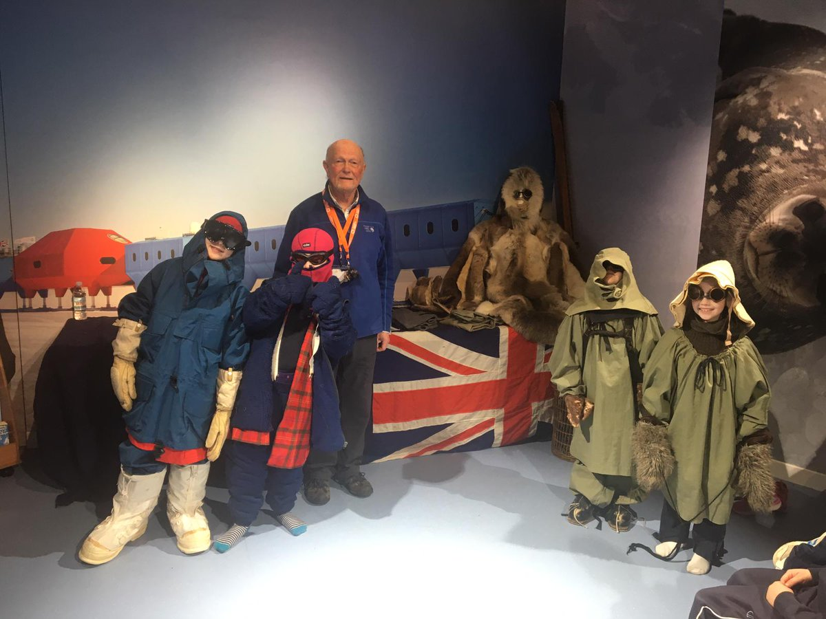 Brrrrrr.... It may be unseasonably warm, but Form 2 are at Discovery Point and RRS Discovery in Dundee today as part of their topic on The Cold. Here they are getting ready for their Antarctic expedition......! 🥶🐧 #topic #LearningOutsideTheClassroom