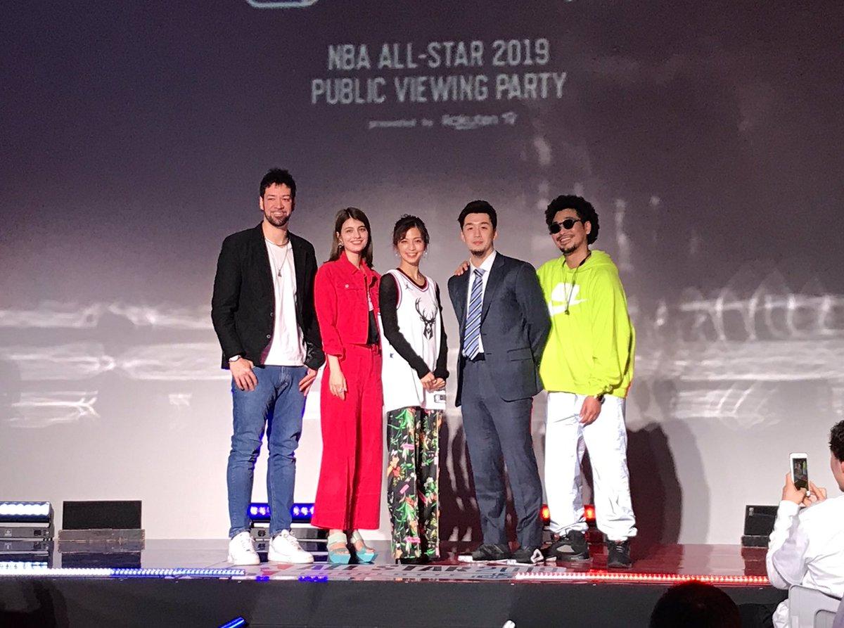 #RakutenTV #NBAAllStar イベント終了🌟マギーさん、安田美沙子さん、MC MAMUSHIさん、#比留木謙司 選手、そしてご来場いただいた皆さま、どうもありがとうございました‼️ いよいよ終盤戦に突入するBリーグも、熱い応援よろしくお願いします☠️🌊🐔⚡️ #田渡凌 #ビーコル #grouses  #勝負服はAOKI