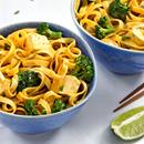 This creamy, golden noodle dish is modeled after the Thai dish khao soi, which combines sweet, spicy, and sour flavors in one bowl.