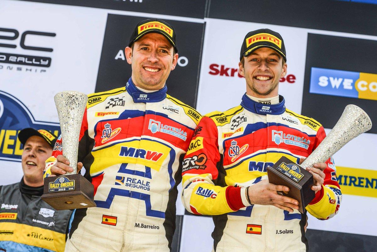 🏆 Jan Solans y el Rallye Team Spain debutan en el Mundial júnior con un tercer puesto. #RallyedeSuecia. 📸 @RFEdeA