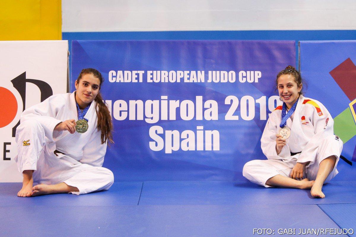 🥋 Ariane Toro Soler (-52 Kg) y María Rojas (-44Kg) se han proclamado campeona y subcampeona, respectivamente, de la Copa de Europa Cadete disputada este fin de semana en Fuengirola. 📸 Gabi Juan @rfejyda #ESPasion