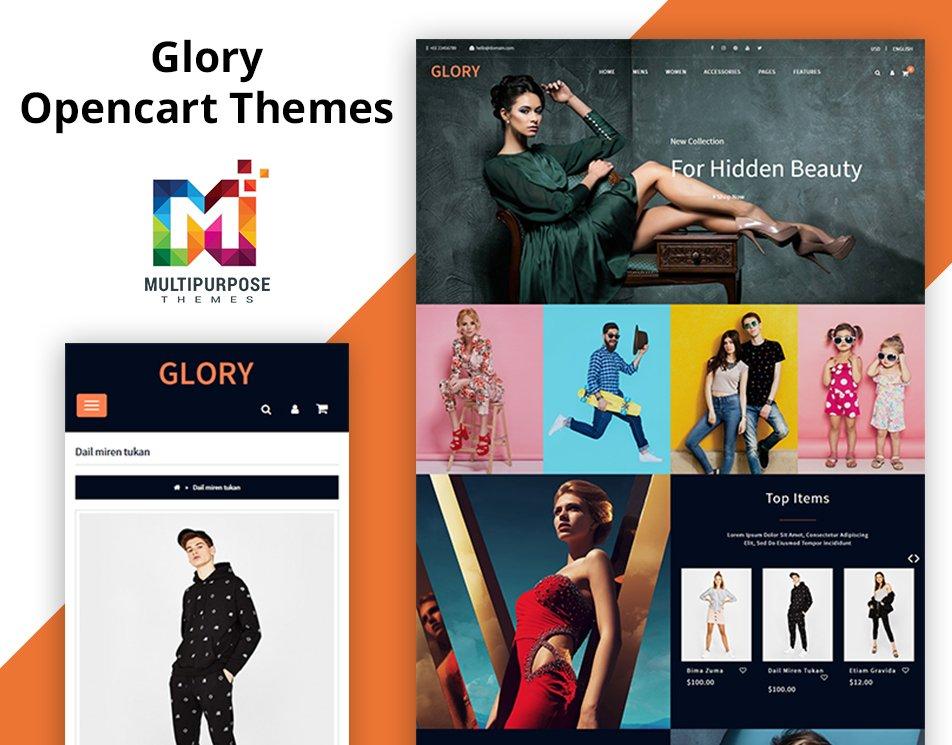 New Themes Just Launch!! 10+ Stores included!!  - Link: https://themeforest.net/item/glory-opencart-3-multipurpose-responsive-theme/22950085…  . #multishop #perfumes #OpenSource #megashop #modern #apparel #Web #pagebuilder #digital #JewelryOpenCartTemplate #fashion #Jewelry #OpenCart #EnvatoMarket #themeforest #design #elegant