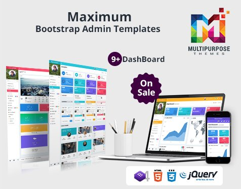New Update available!! 7+ Dashboard included. Bootstrap 4.1. 3, jQuery 3.3.1.  https://themeforest.net/item/maximum-responsive-bootstrap-admin-dashboard-template/20442130…  #webdesign #frontend #Bootstrapgrid #uiuxdesigns #webdesigning #UX  #crm #CSS3 #AdminPanel #AdminTemplates #Bootstrap4 #Bootstrap4Admin #Bootstrap4AdminDashboard #CMS