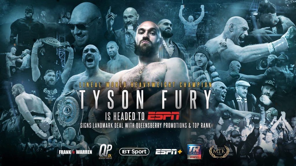 Tyson Fury signs £80m five-bout US deal to put Deontay Wilder rematch in doubt