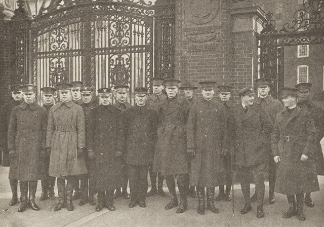 Feb 7, 1919 - Brown University students returning from military service to resume their studies #100yearsago