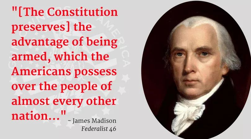 An important reminder from James Madison on this #PresidentsDay