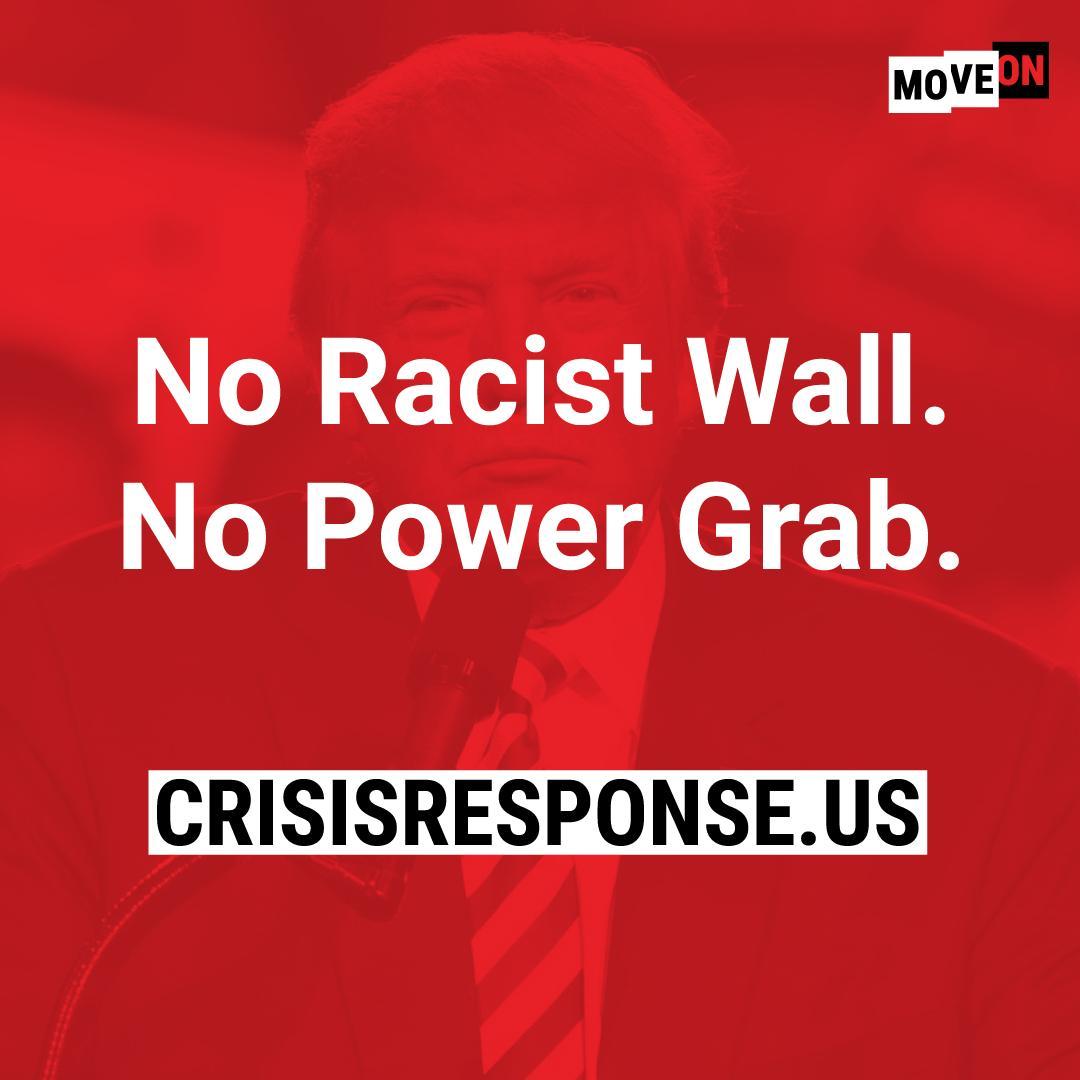 #MondayMotivation: #FakeNationalEmergency edition. Today, we mobilize. Join us: http://www.crisisresponse.us