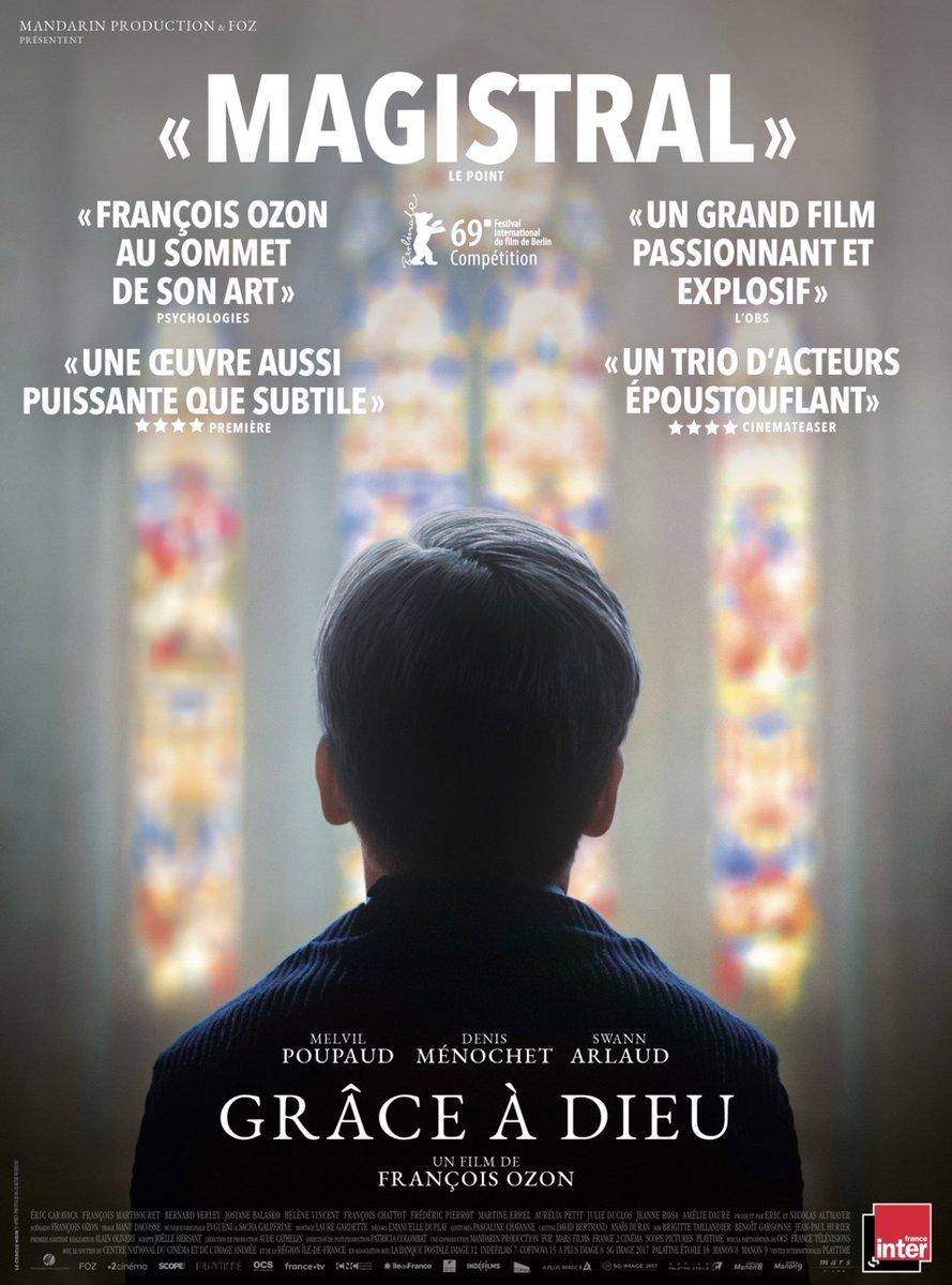 [Communiqué]  François Ozon, Mandarin Production et Mars films confirment, que du fait de la décision du juge des référés du TGI de Paris, le film« Grace à Dieu » sortira bien en salles dans toute la France sur 290 copies ce mercredi 20 février 2019.