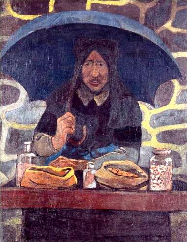 Поль Серюзье. «Продавец». 1894 г. Холст, масло. Частная коллекция.