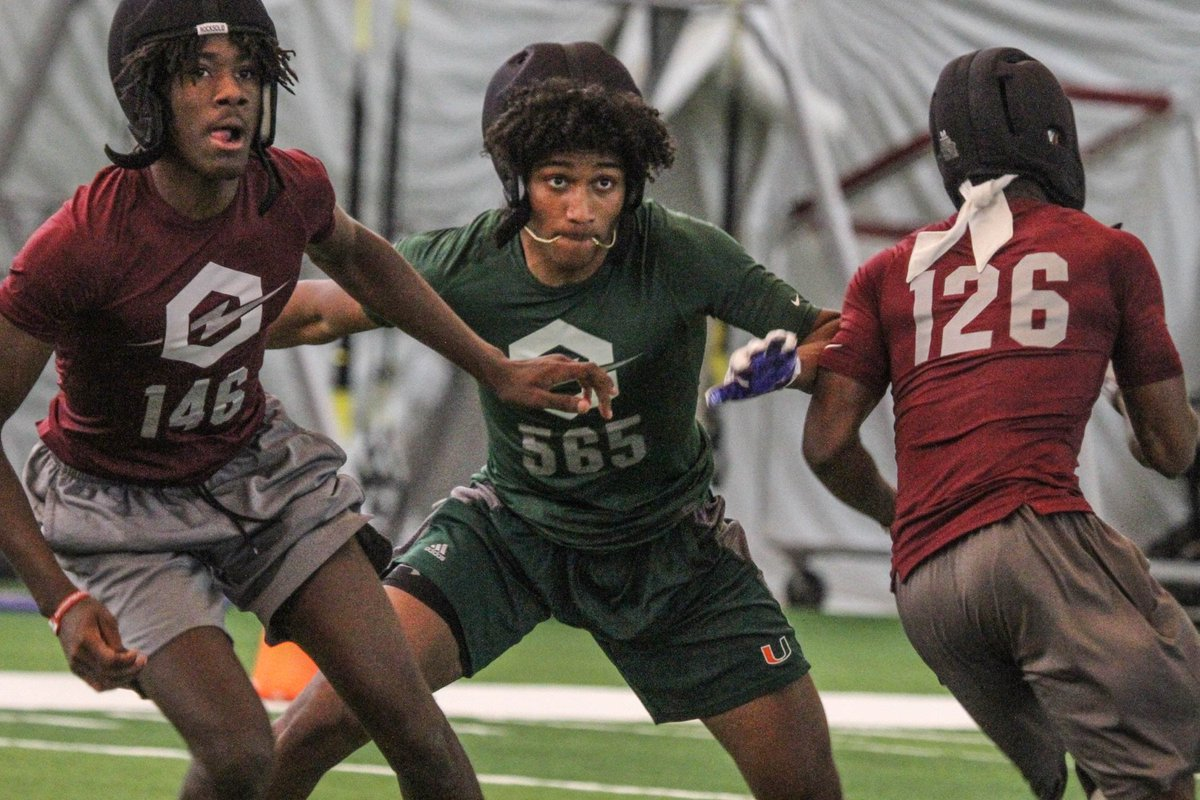 "VIP: Top100 CB Lejond Cavazos says Miami will ""for sure"" make his top group of schools after visiting Saturday. https://247sports.com/college/miami/Article/IMG-Academy-2020-four-star-cornerback-Lejond-Cavazos-impressed-by-Miami-on-visit-129223035/ …"