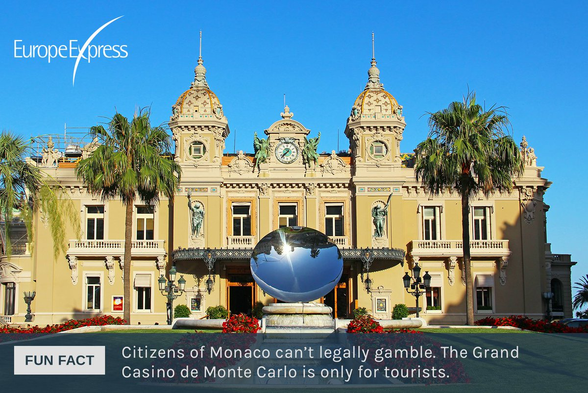 Fun fact: Citizens of Monaco can't legally gamble. The Grand Casino de Monte Carlo is only for tourists. https://t.co/OYIKJOdccu