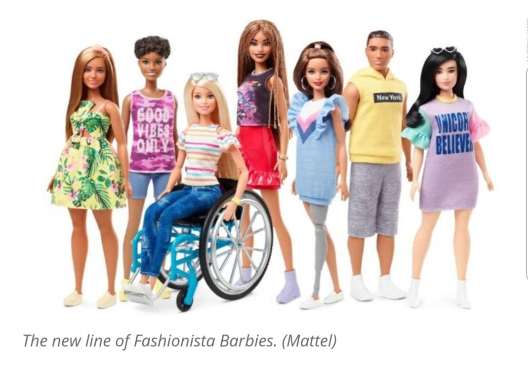 I wish there had been an inclusive Barbie range when I was young. The toys still need work on body type and shape, but honestly, I would have loved to play with a Barbie or a Ken with a prosthetic leg growing up. Great to see this new range for 2019! https://kfdm.com/news/offbeat/barbie-unveils-line-of-inclusive-dolls-with-disabilities…