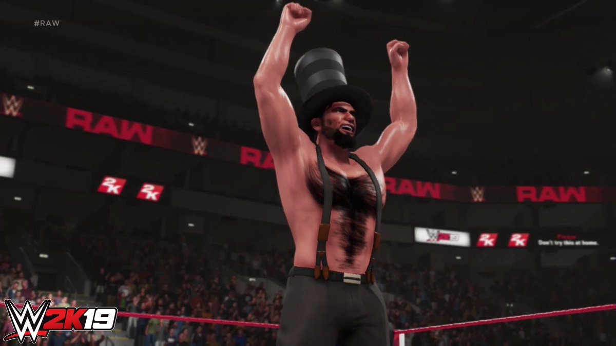 In honor of #PresidentsDay, are you playing as any famous presidents in #WWE2K19? Show us your content!