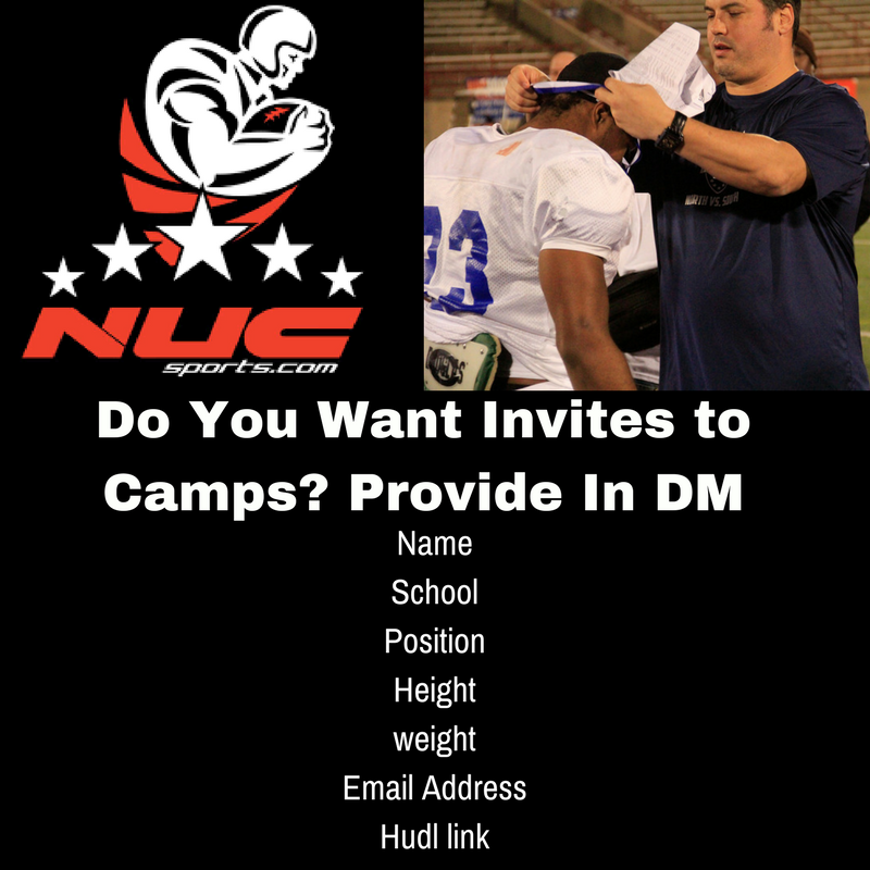 Do You Want Invites to Camps? Provide In DM #offseasonisinseason #football