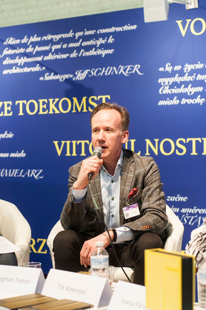 Some photographs of our second event — featuring Romania's Ioana Pârvulescu and Estonia's Tiit Aleksejev — at this past weekend's @foirelivrebxl: #Europeanliterature #Romanianlit #Estoninlit #Bookfairs #pastEUPLwinners