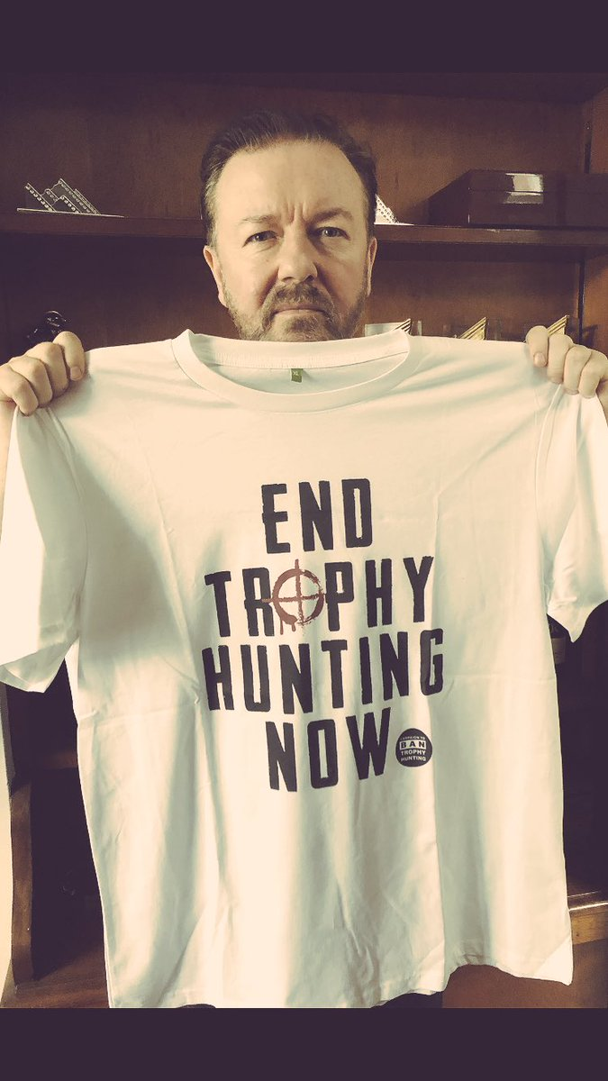 Stand with me to #BanTrophyHunting now. Support The Campaign to Ban Trophy Hunting & get your T-Shirt at http://campaigntobantrophyhunting.teemill.com 🙏