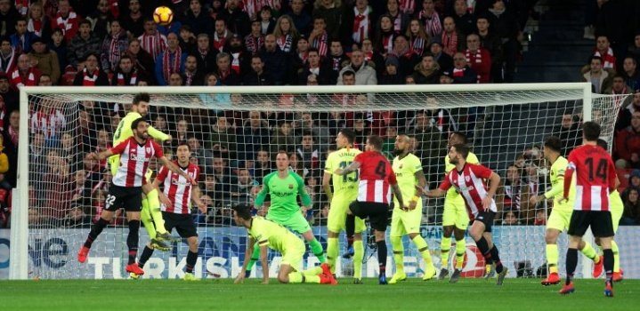 Final fecha 23 Liga  Barcelona 0🔴🔵 Bilbao 0🔴⚪  Goles⚽️:  Asistencias🎯:  Infracciones: Garcia Yeray Lenglet y Busquets Amarillas , De Marcos Expulsado   #TemporadaBlaugrana #Laliga #AthleticBarça
