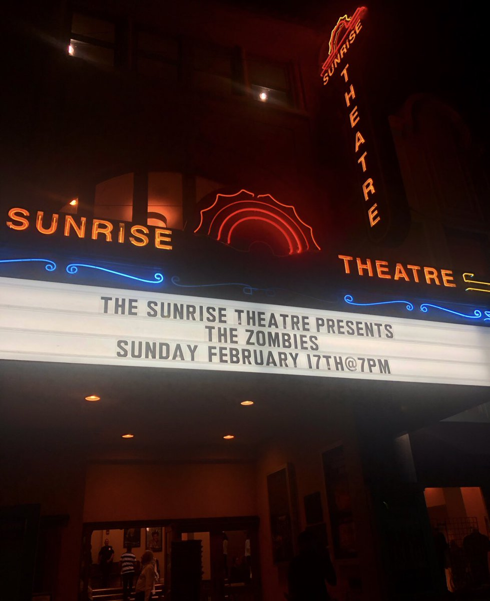Thank you @SunriseTheatre! Next show... @atthecap in Clearwater, FL tomorrow.  https://www.rutheckerdhall.com/event/zombies