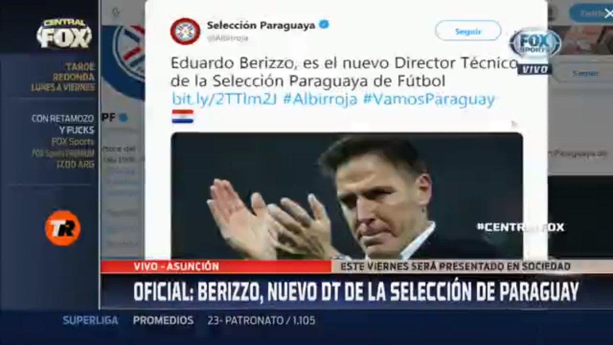 RT @FOXSportsCo: ¡EDUARDO BERIZZO REEMPLAZA A OSORIO EN LA SELECCIÓN DE PARAGUAY!  #CentralFOX   @nicolithitx informó desde Asunción que el ex entrenador del Celta comandará a la Albirroja hasta Catar 2022.  ¡Descarga la APP! http://bit.ly/fb_fs_la