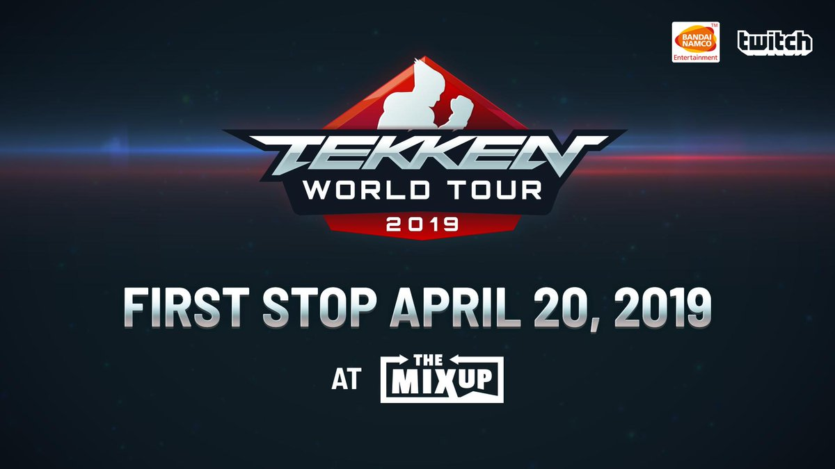 The TEKKEN WORLD TOUR will start up again on April 20th! Our first stop: The MIXUP in Lyon, France! #TWT  Order #TEKKEN7 today and get ready for all the hard-hitting action:  https://t.co/sr60SE5JHh