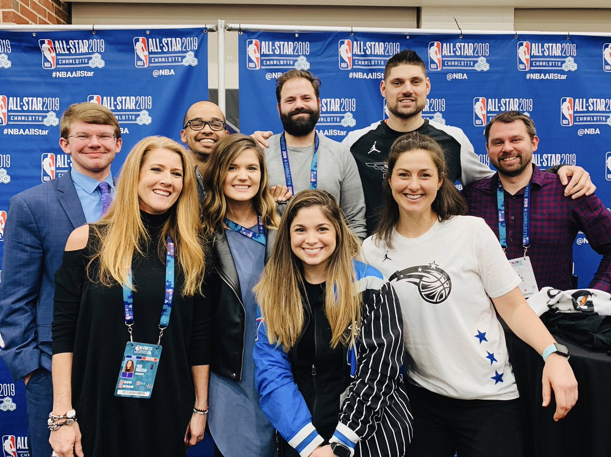 First #NBAAllStar experience in Charlotte was ballin' 🏀. #NikolaVucevic #PureMagic