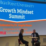 #GrowthMindset summit ⁦@HighPointU⁩ with #Netflix cofounder Marc Randolph moderated by our own ⁦@AngelaCBauer⁩