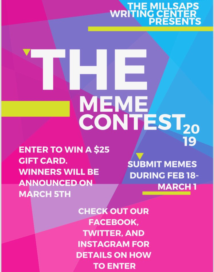 Three Lucky Students Will Win A 25 Gift Card Last Day To Submit Memes Is Friday March 1 At 5pm Pic Twitter 15q0yreh5e