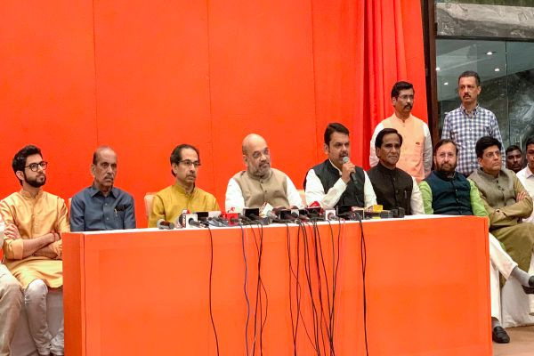 BJP – Shiv Sena announce alliance for upcoming Lok Sabha and Maharshtra assembly polls