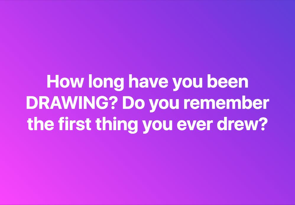 How long have you been DRAWING? Do you remember the first thing you ever drew? #mondaythoughts <br>http://pic.twitter.com/oRiQAGDPzD