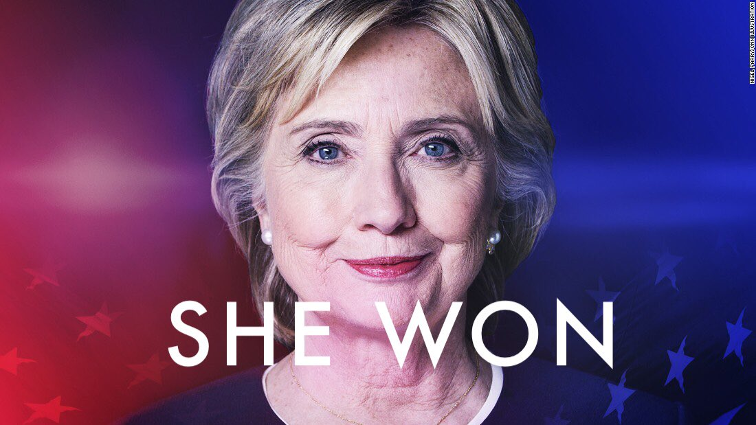 It's worth noting on this #PresidentsDay that #SheWon   #StillWithHer
