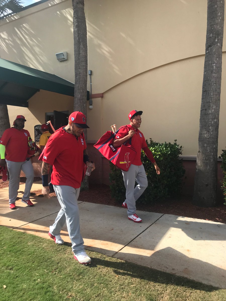 The Redbirds are coming.  First full-squad workout here in Jupiter, Florida.