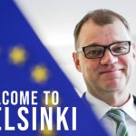Image for the Tweet beginning: Welcome to Helsinki! Finland's Prime