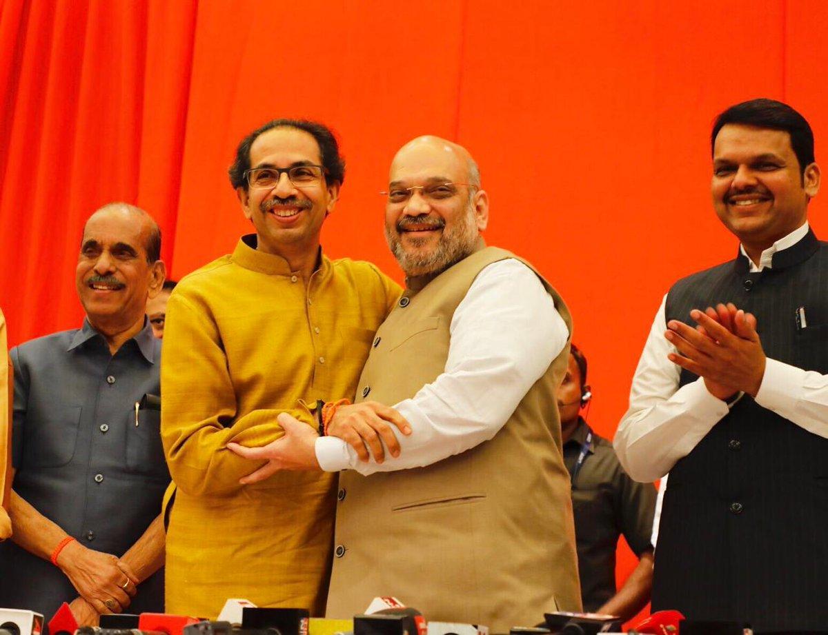 लोकसभा चुनाव में भाजपा-शिवसेना का गठबंधन महाराष्ट्र में 48 सीटों में से 45 सीटों पर विजय प्राप्त करेगा - श्री @AmitShah  #NDAToWin45InMaha