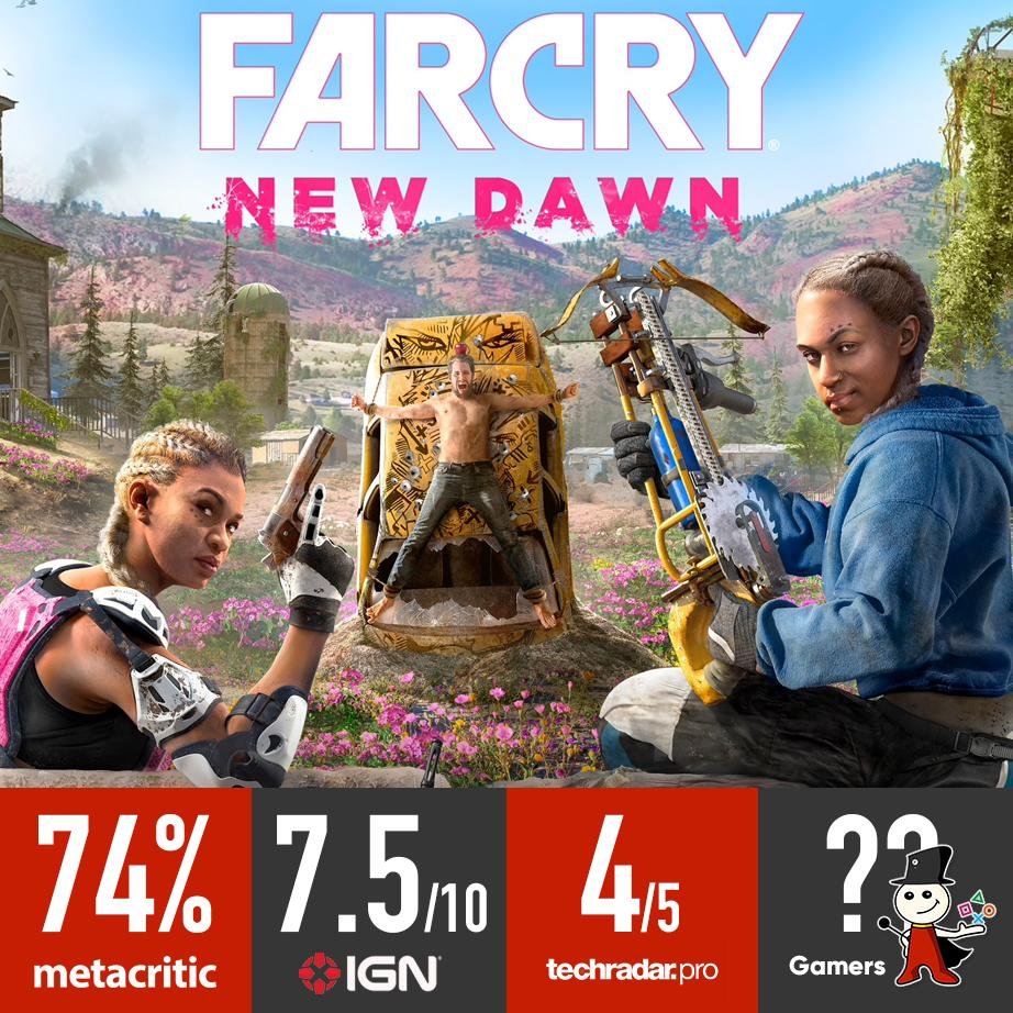 #FarCryNewDawn reviews from different sources! #Gamers_JO https://t.co/9HTrmVDXwC
