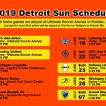 Image for the Tweet beginning: DETROIT SUN FC UWS PRO-AM LEAGUE