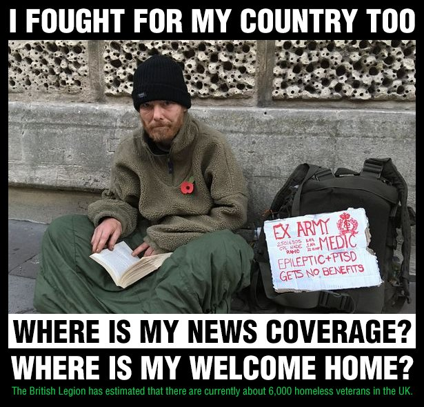 Where is my news coverage? Where is my welcome home? #theresamay #begum #homeless #military #BritishArmy #PTSD #mentalhealth