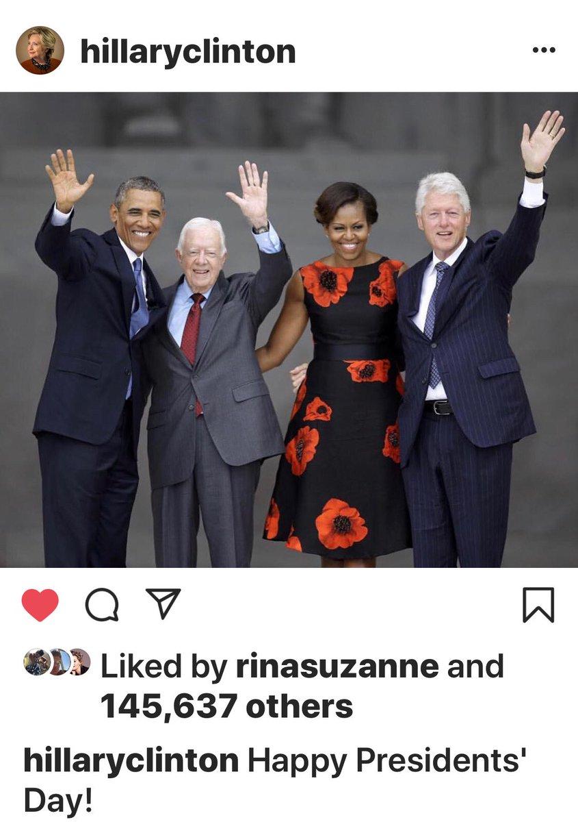 Bwahahahaha. Bwahahahaha. Did you see Hillary Clinton's #PresidentsDay instagram post, @realDonaldTrump?