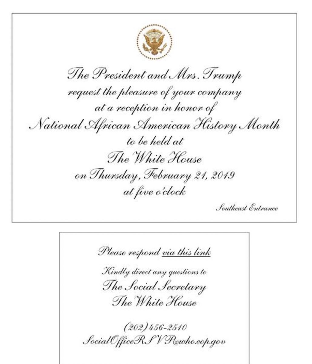 I'm going to the White House this week. Thank you President Trump & Mrs. Trump for the invitation.  #HappyPresidentsDay