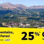 Image for the Tweet beginning: Tall mountains, low fares! Book