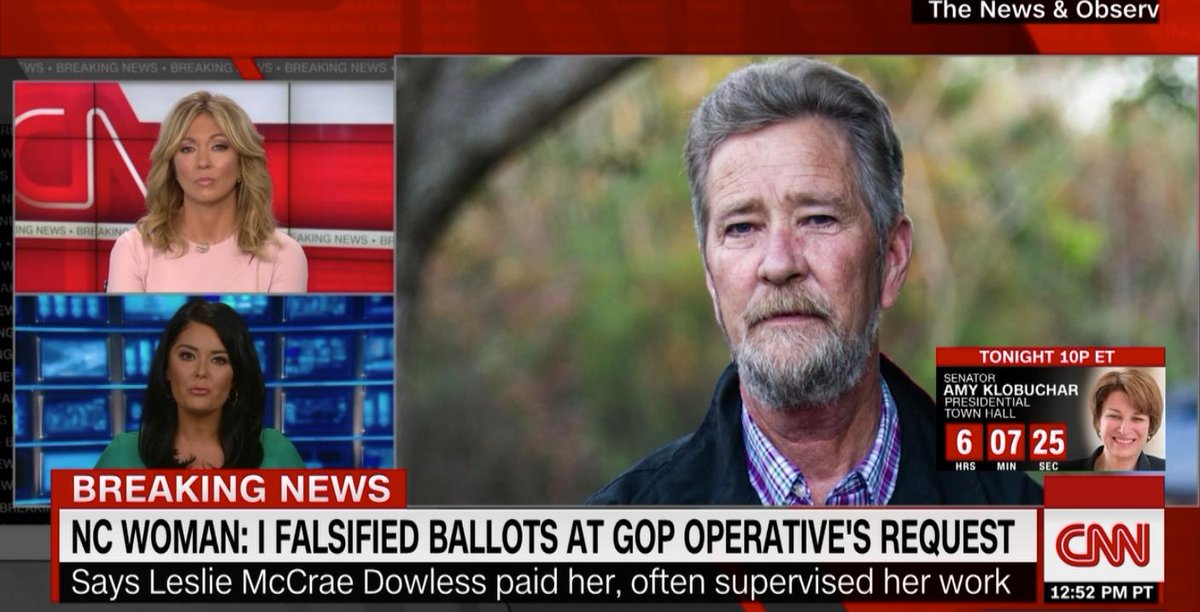 BREAKING:  NC WOMAN: I Falsified Ballots at GOP Operative's Request!  Hmm…  🤔🤔🤔  Republicans should really do something about the rampant election fraud within their ranks!  Perhaps they can form a commission ¯\_(ツ)_/¯