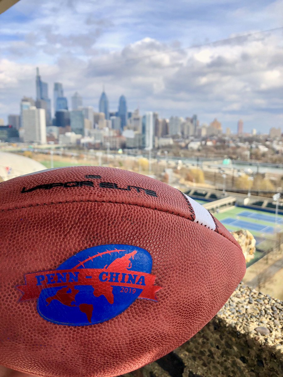 S/O to @BigGameUSA for supplying us with custom @usnikefootball for our match-up with the Shanghai International Elites on March 9th in Shanghai. #UPrising #FightOnPenn https://t.co/1vU5KdP2bO
