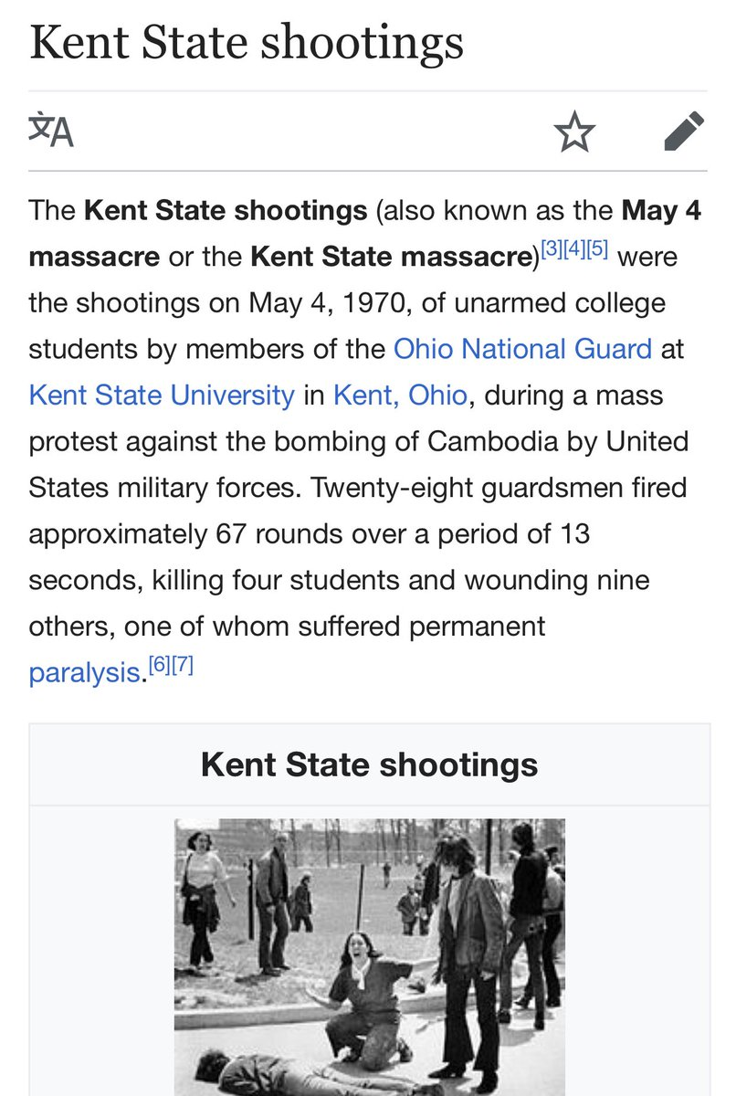 I remember the Kent State Massacre. The country was genuinely at risk (unlike now). https://t.co/