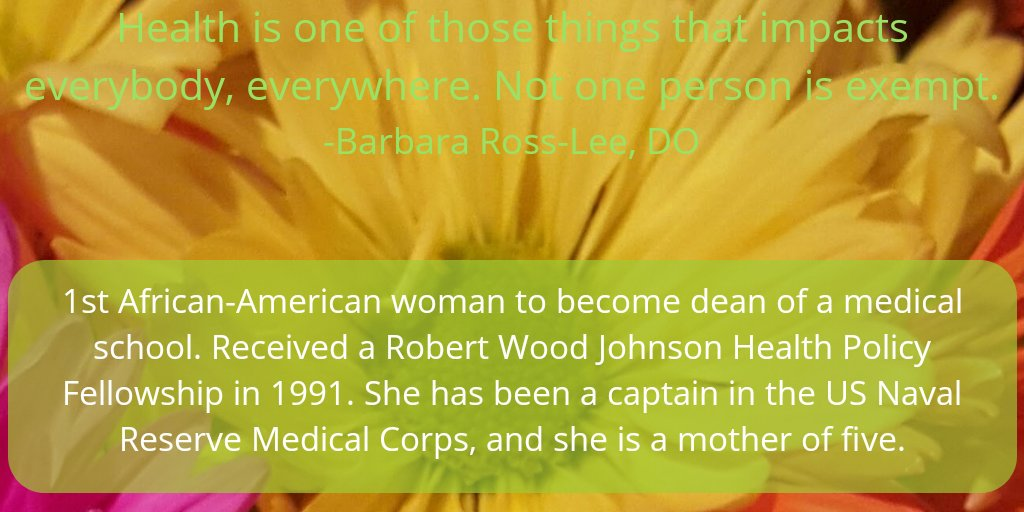 Honoring Dr. Barbara Ross-Lee today. Not to be outdone by her sister, Diana Ross, she became the 1st African-American woman dean of a medical school.  WOW! #BlackHistoryMonth  #BlackWomeninMedicine<br>http://pic.twitter.com/sHJoMpQA4g