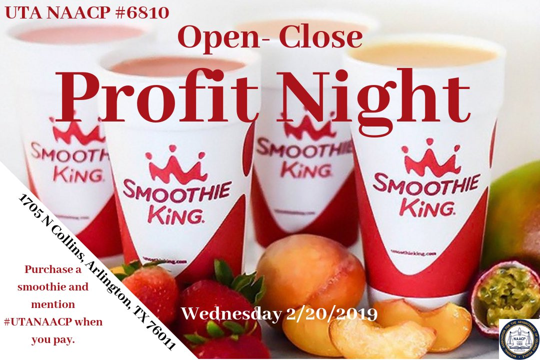 Come out and support #Unit6810's profit night this Wednesday at Smoothie King! #Txnaacpyc