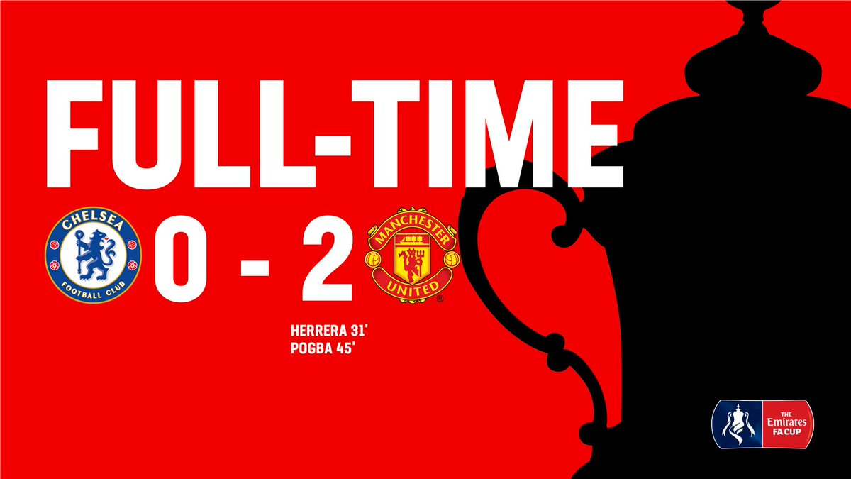 FT: @ManUtd knock out #EmiratesFACup holders @ChelseaFC! 🔴