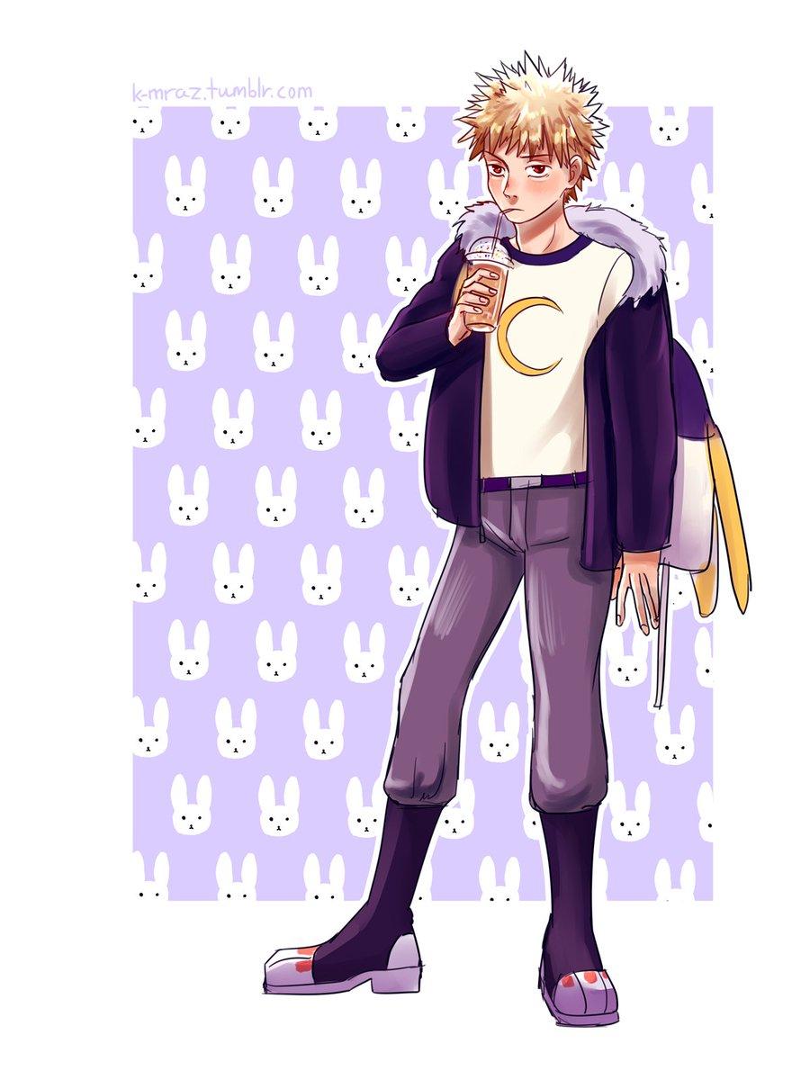 okay but imagine Bakugou being a Mirko fanboy for a second #mha