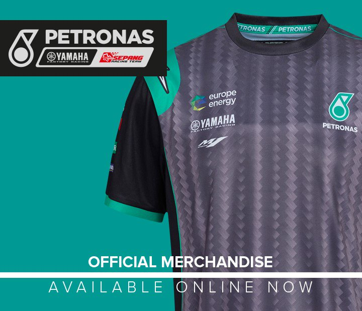 Petronas Yamaha Moto GP Team All Over Printed T-Shirt Officiel 2019